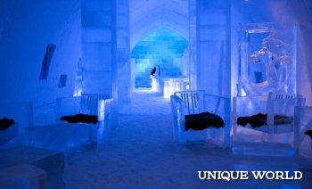 Зимняя сказка – ледяной отель в Швеции