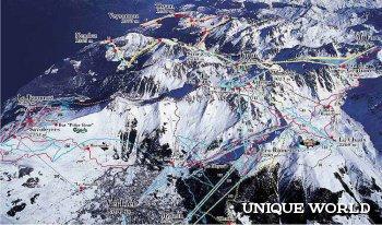 Вербье – один из самых больших горнолыжных курортов