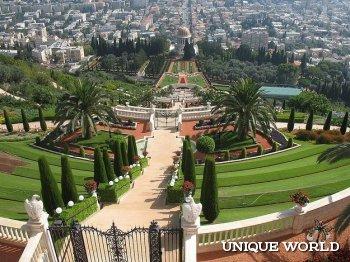 Бахайские сады – известная израильская достопримечательность