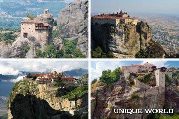 Достопримечательность Греции: Монастыри Метеоры