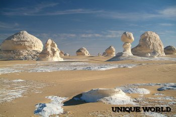 Удивительная белая пустыня в Египте