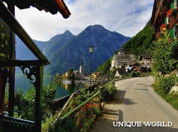 Живописный альпийский город Гальштат